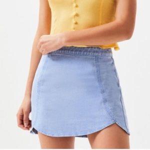 Pacsun Mini Denim Jean Skirt Light Blue Size 26